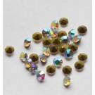 Klaaskristall 3,8mm koonus, vikerkaar, 1 tk