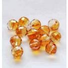 Lihvitud ümar klaashelmes 10mm oranž, 1 tk