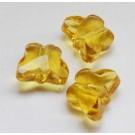Lihvitud väike liblikas 8x10x6mm, kollane, 1 tk