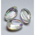 Lihvitud ovaalne-tilgakujuline klaashelmes 18x10mm läbipaistev, 1 tk