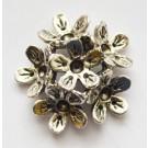 Ant. hõbedane metallhelmes-ühendaja lill 28mm, 2-realine, 2,5-3mm kristallidele, 1 tk