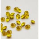 Klaaskristall 2mm kuldkollane, 10 tk