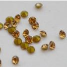 Klaaskristall 2mm topaas, 10 tk