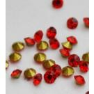 Klaaskristall 2mm punane, 10 tk