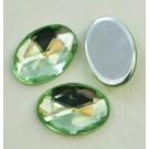 Akrüülkristall 14x10mm heleroheline, 1 tk