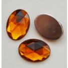 Akrüülkristall 14x10mm oranžikaspruun, 1 tk