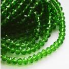 Lihvitud rondell 3x4mm roheline, 10 tk