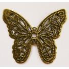 Ant.pronks õhuke metallhelmes liblikas 32x27 mm, 1 tk
