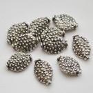 Ant.hõbedane ovaalne metallhelmes 15x10mm, 1 tk