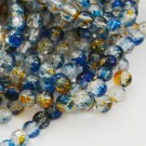 Mõraline klaashelmes 6mm sinine-oranž, 10 tk