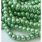 Klaaspärl 6mm roheline, 10 tk
