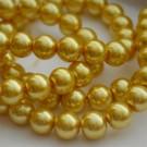 Klaaspärl 12mm hele kuldne, 1 tk