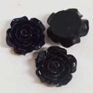 Kunstvaigust lill 18-20x9mm must, 1 tk