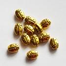 Ant.kuldne metallhelmes Lepatriinu 7,5x5,4mm, 1 tk