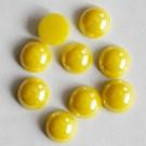 Portselan kamee  11,5x5mm pärliläikeline kollane, 1 tk
