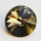 Swarovski Rivoli 12mm Black Diamond, 1 tk