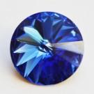 Swarovski Rivoli 12mm Sapphire, 1 tk