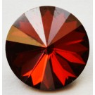 Swarovski Rivoli Chaton 12mm Red Magma, 1 tk