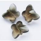 Mustjas-hall lihvitud liblikas 15x12mm, 1 tk