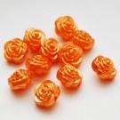 Akrüülhelmes Lill 12mm pärliläikeline oranž, 1 tk