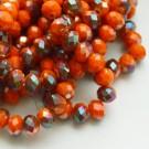 Lihvitud rondell 8x6mm oranžikaspunane/metallik, 1 tk