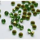 Klaaskristall koonus 2,8mm,  roheline, 10 tk