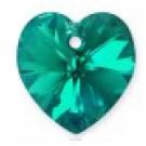 Swarovski Heart Pendant Blue Zircon AB, 1 tk