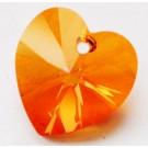Swarovski Heart Pendant Astral Pink AB, 1 tk