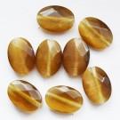 Klaashelmes Kassisilm 14x10mm lihvitud pruun, 1 tk
