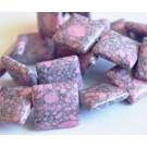 Бирюза  бусина 16мм  синтетичный розовый-серый, 1 шт.