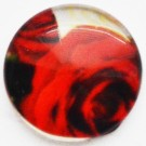 Стеклянный кабошон Цветок 18мм, 1 шт.