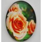 Стеклянный кабошон Цветок 40х30мм, 1 шт.