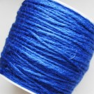 Шнур конопли  2мм синий, 1 м