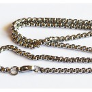 Stainless Steel ketju 68-69cm,  4x3mm, 1 kpl