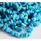 Turquoise chip beads 5-8mm synthetic, dyed blue, 43cm, - 1 pcs