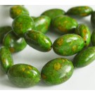 Turquoise beads 20x15mm natural, dyed, green, 1 pcs