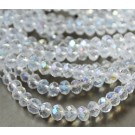 Glass beads 6x4mm abacus faceted, 10 pcs
