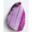 Agate pendant 23x39mm natural, dyed, 1 pcs
