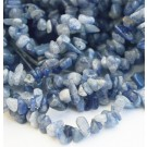 Aventurine chips 4-12mm natural, blue,  43cm, 1 pcs