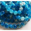 Crackle glass beads 10mm dyed, 1 pcs