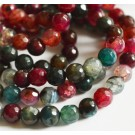 Agate beads 6mm natural,round, dyed,  20 pcs
