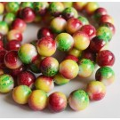 Glass beads 12mm, round, colorful, 1 pcs