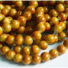 Glass beads 8mm, round, brown, 20 pcs