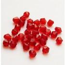 Punane lihvitud romb 4mm, 10 tk