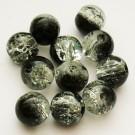 Mõraline klaashelmes must-valge, 8mm, 10 tk