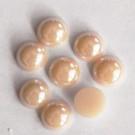 Portselan kamee  11,5x5mm pärliläikeline roosakasbeež, 1 tk