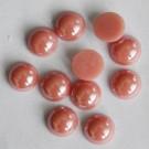 Portselan kamee  11,5x5mm pärliläikeline  punakasroosa, 1 tk