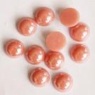 Portselan kamee  11,5x5mm pärliläikeline hele punakasroosa virsik, 1 tk