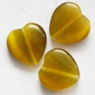 Klaashelmes Kassisilm 14x14mm oliivroheline, 1 tk